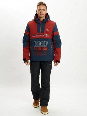 Горнолыжный костюм анорак мужской красного цвета 077024Kr