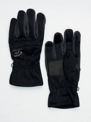 Перчатки спортивные мужские черного цвета 605Ch