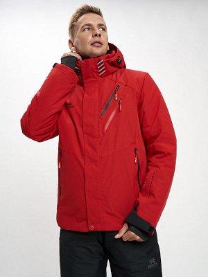 Горнолыжная куртка мужская красного цвета 77010Kr