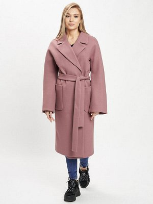 Пальто демисезонное розового цвета 41881R