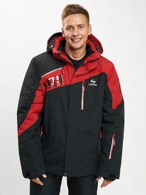 Горнолыжная куртка мужская большого размера красного цвета 77029Kr