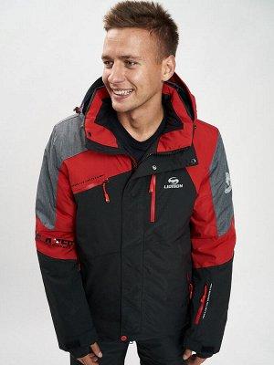 Горнолыжная куртка мужская красного цвета 77013Kr