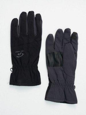 Горнолыжные перчатки мужские темно-серого цвета 607TC