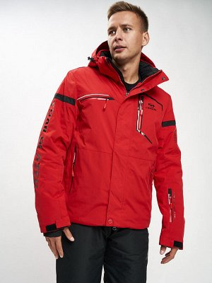 Горнолыжная куртка мужская красного цвета 77014Kr