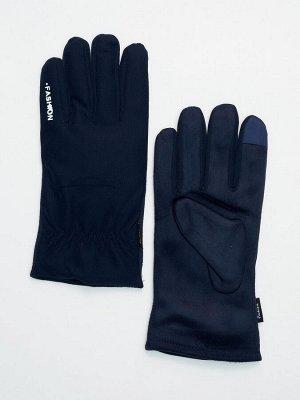 Классические перчатки зимние мужские темно-синего цвета 601TS