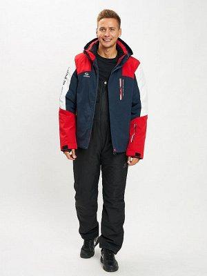 Горнолыжный костюм мужской красного цвета 077018Kr