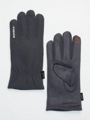 Классические перчатки зимние мужские серого цвета 601Sr