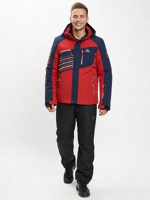 Горнолыжный костюм мужской красного цвета 077012Kr