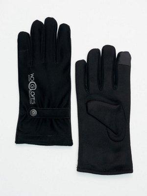 Классические перчатки зимние мужские черного цвета 603Ch