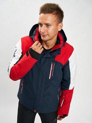 Горнолыжная куртка мужская красного цвета 77018Kr