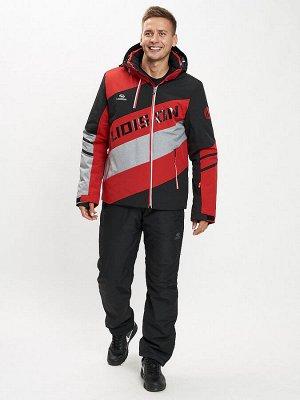 Горнолыжный костюм мужской красного цвета 077022Kr