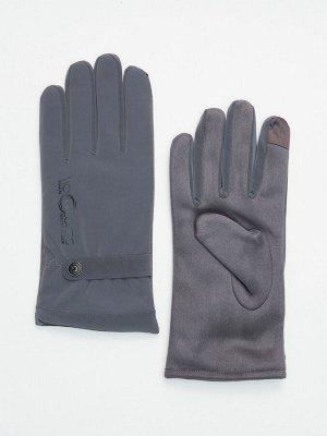 Классические перчатки зимние мужские серого цвета 603Sr