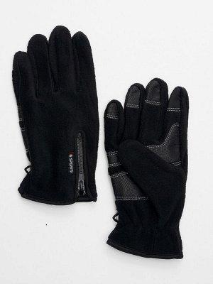 Перчатки мужские на флисе черного цвета 699Ch