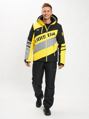 Горнолыжный костюм мужской желтого цвета 077022J
