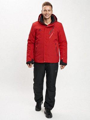 Горнолыжный костюм мужской красного цвета 077010Kr