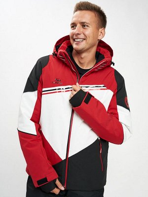 Горнолыжная куртка мужская красного цвета 77016Kr