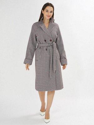 Пальто демисезонное бордового цвета 42121-1Bo