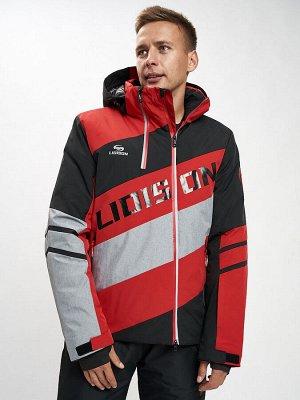 Горнолыжная куртка мужская красного цвета 77022Kr