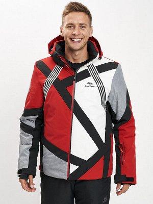 Горнолыжная куртка мужская красного цвета 77015Kr