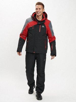 Горнолыжный костюм мужской красного цвета 077013Kr