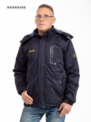 Мужская зимняя куртка с капюшоном. МЕМБРАНА. Температурный режим  до-30