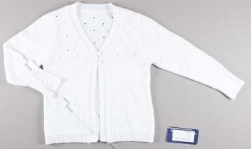 Вязаный жакет белый, хлопок, ДаДак Польша, 98 размер во Владивостоке