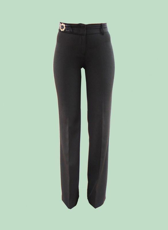 брюки черные прямые широкие р.42, высокий рост во Владивостоке