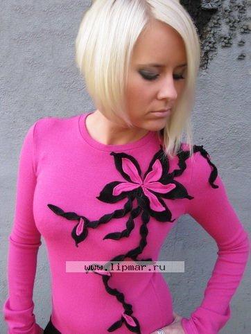 Блузка фуксия уникальный дизайн 52 во Владивостоке