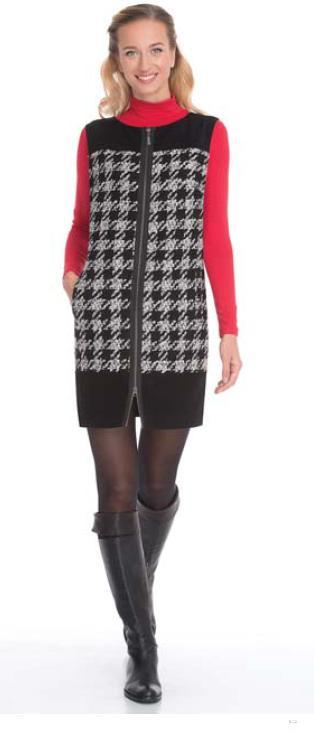 Платье м костюмная ткань цв.черно-белый во Владивостоке