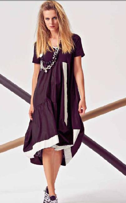Итальянское интересное платье, сложный крой, на рост от 170, размер 46-48 в Арсеньеве