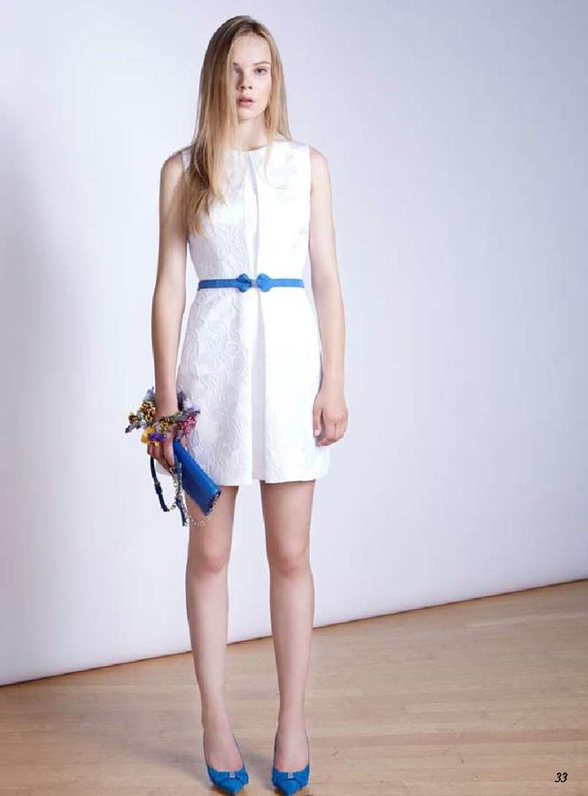 Платье с карманами белое Италия Блу==герл во Владивостоке