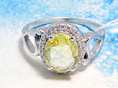 кольцо с желтым цирконом во Владивостоке