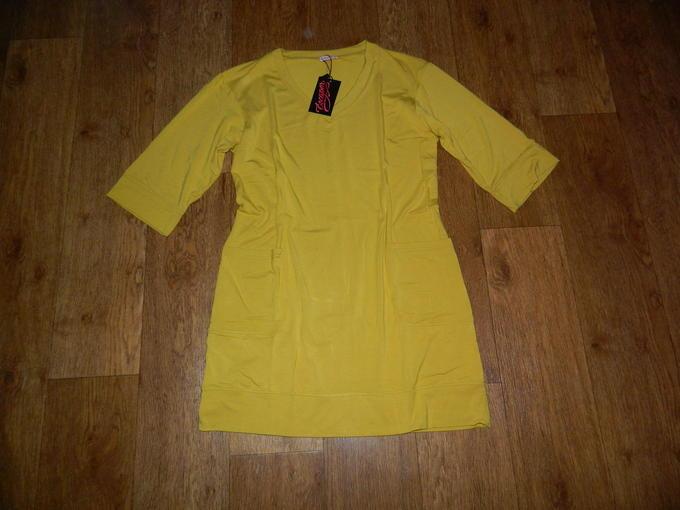 Платье с широкой планкой по низу + кож. ремень. Цвет горчичный или охра во Владивостоке