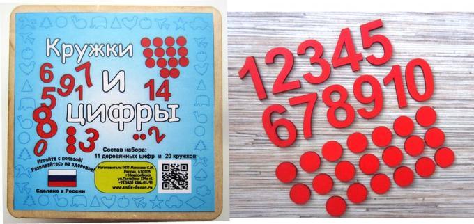 Деревянные кружки и цифры в Хабаровске