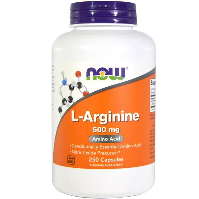 NOW L-Arginine 500 mg  250 капсул