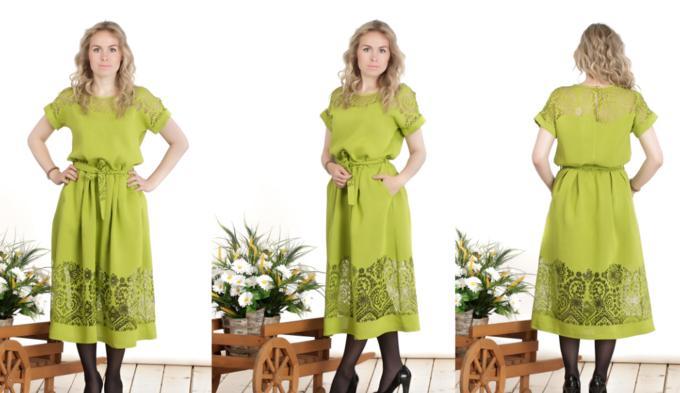 Платье из льна на высокий рост,  цвет как на фото во Владивостоке