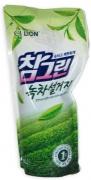 """LION Средство для мытья посуды, овощей и фруктов """"CHAMGREEN"""" Зеленый чай, мягкая упаковка, 800 мл"""