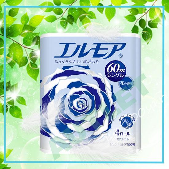 Ароматизированная двухслойная туалетная бумага ELLEMOI 30 м (4 рулона)
