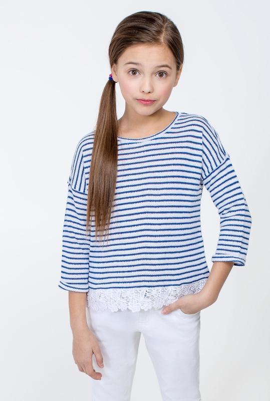 Джемпер детский для девочек Cartagena синий в Хабаровске