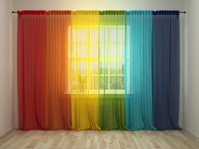 выбираешь фото разноцветные тюли на окне этом случае