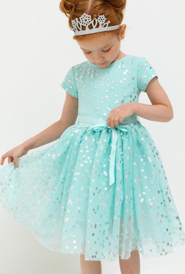 Платье детское для девочек Акула светло-бирюзовый в Хабаровске