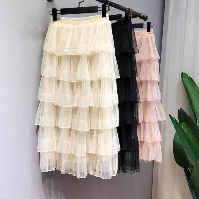Длинная юбка из фатина. Цвет молочный во Владивостоке