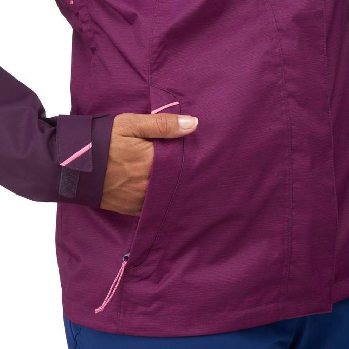 Куртка водонепроницаемая для горных походов для женщин - MH100 QUECHUA