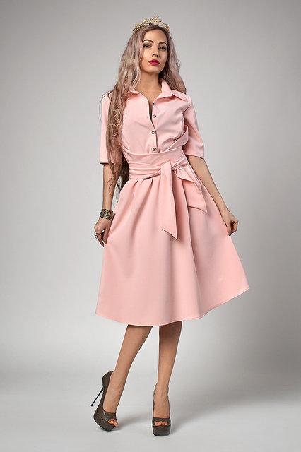 Платье 555-4 пудра во Владивостоке