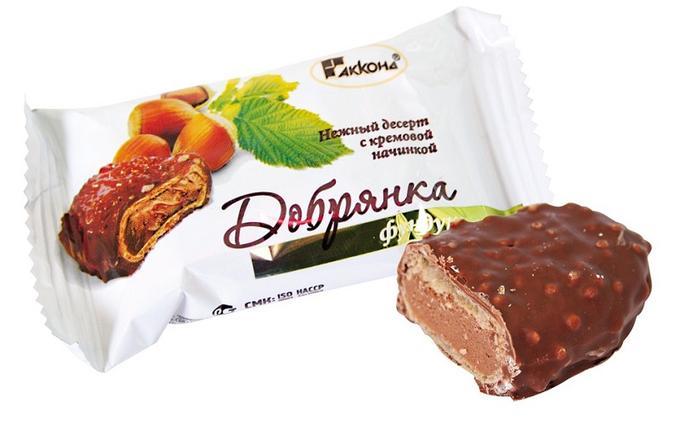 Десерт Добрянка фундук с кремовой начинкой