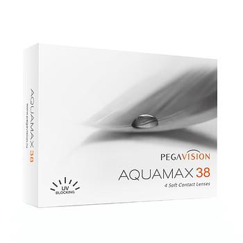 Квартальные контактные линзы Aquamax 38 Pegavision (4 линзы)