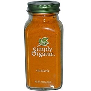 Simply Organic, Куркума 67 гр