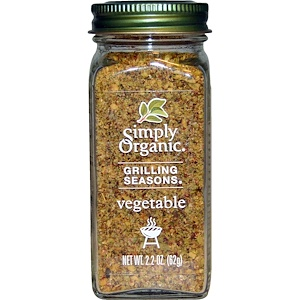 Simply Organic, Специи для гриля, для овощей 62 гр