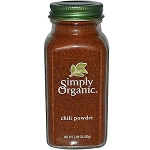 Simply Organic, Порошок чили 82 гр