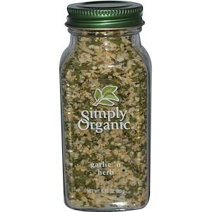 Simply Organic, Чеснок и травы 88 гр